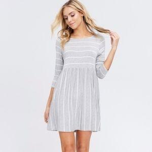 !! SALE !! Grey Stripe Mini Dress Sizes S, M and L